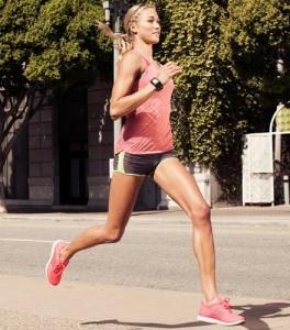 rennende vrouw